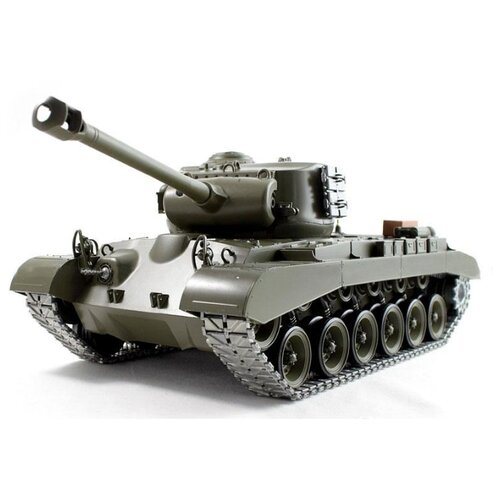 Танк Heng Long M26 Pershing Snow Leopard (3838-1PRO) 1:16 50 см зеленый