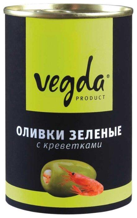 Vegda Оливки зеленые с креветками, жестяная банка 300 мл