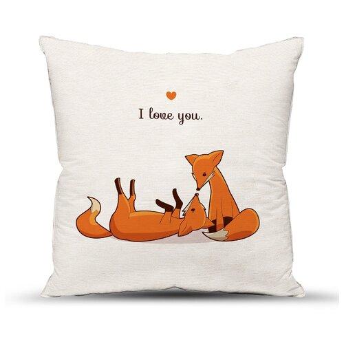Подушка декоративная Традиция Лисички, 40 х 40 см белый/оранжевый подушка декоративная led со светодиодами 40 х 40 см 175061