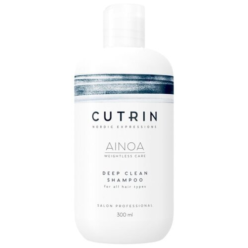 Cutrin шампунь Ainoa Deep Clean 300 мл шампунь cutrin pureism