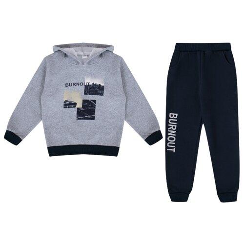 Купить Комплект одежды Fun time размер 98, серый/синий, Комплекты и форма