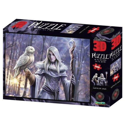 Купить Пазл Prime 3D Super 3D Зимняя сова (10344), 500 дет., Пазлы