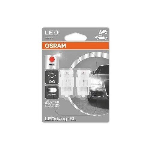 Лампа автомобильная светодиодная Osram 7706R-02B W21W 12V 1,4W 2 шт.