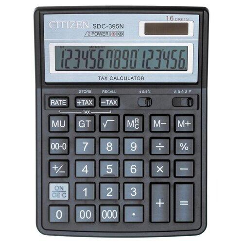 Калькулятор бухгалтерский CITIZEN SDC-395N черный калькулятор citizen sdc 395n sdc 395 n