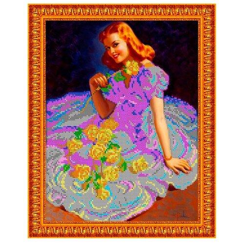Светлица Набор для вышивания бисером Розы для девушки 24 х 30 см, бисер Чехия (289)