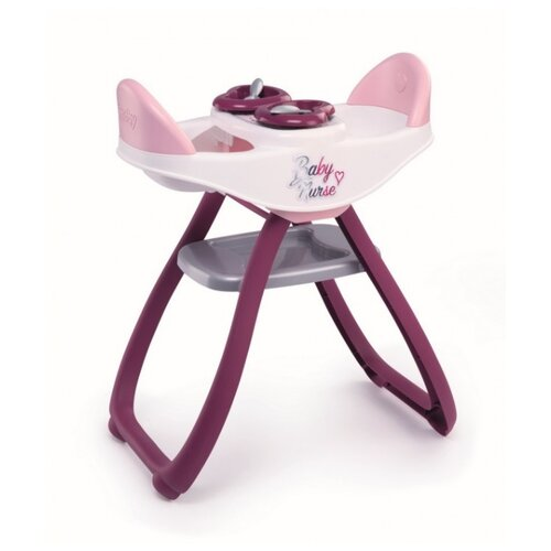 Купить Smoby Стульчик для кормления двойняшек Baby Nurse (220344) фиолетовый/розовый, Мебель для кукол