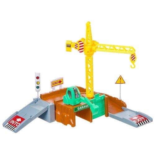 Купить Yako Стройплощадка M7988-5 желтый/зеленый/коричневый/серый, Детские парковки и гаражи