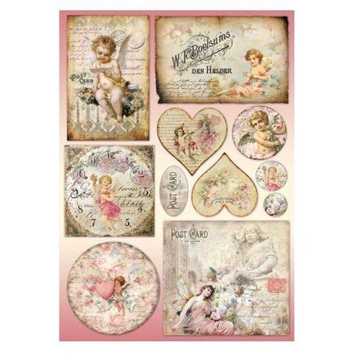 Купить Карта для декупажа Post card 50 х 70 см 1 лист, Stamperia, Карты, салфетки, бумага
