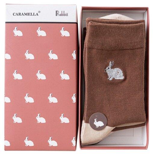 Носки Кролики, набор из 3 пар Caramella