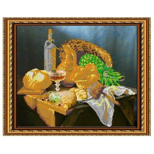 Светлица Набор для вышивания бисером Свежий хлеб 30 х 24 см, бисер Чехия (258)