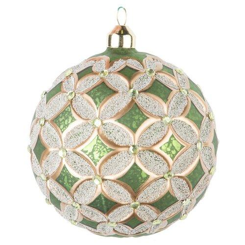 Набор елочных игрушек KARLSBACH 08575, зелено-золотистый
