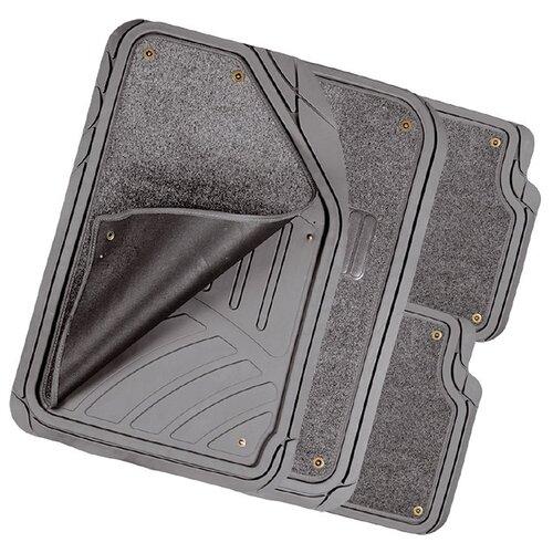 Комплект ковриков AUTOPROFI MAT-420 4 шт. серый