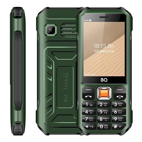 Телефон BQ 2824 Tank T, зеленый по цене 2 090