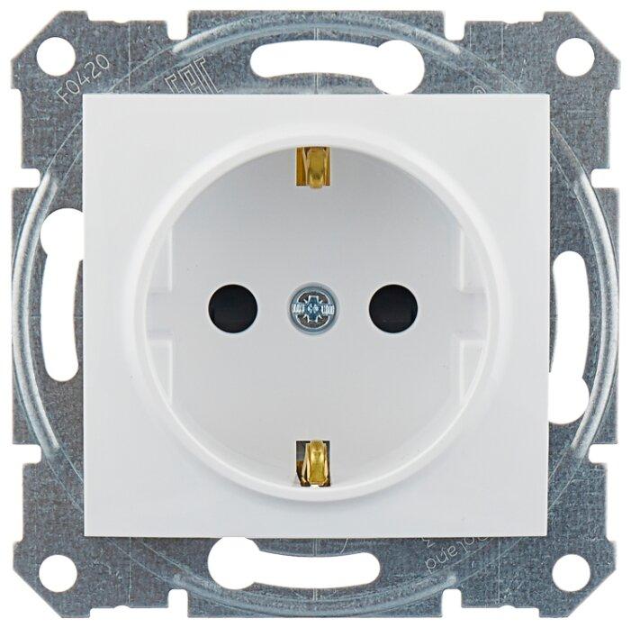 Schneider Electric SDN3000121 Sedna Бел Розетка 1-я с/з с защитными шторками