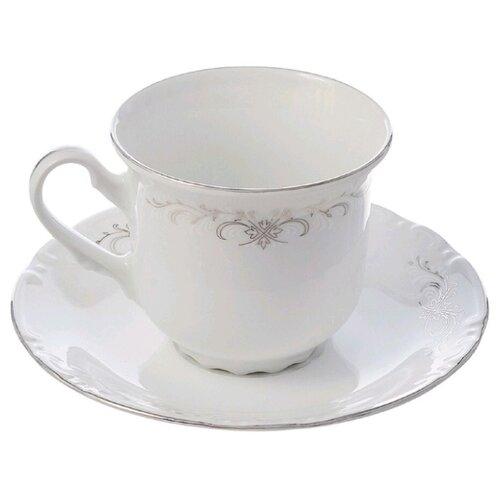 Thun1794 Чайная пара Constance Серый орнамент 230 мл белый/серый