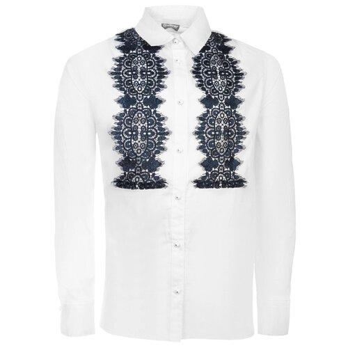 Блузка Gulliver размер 170, белый/синий платье oodji ultra цвет красный белый 14001071 13 46148 4512s размер xs 42 170