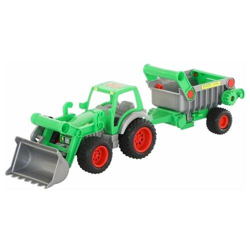 Купить Погрузчик Wader Фермер-техник с полуприцепом (37756) 58 см, Машинки и техника