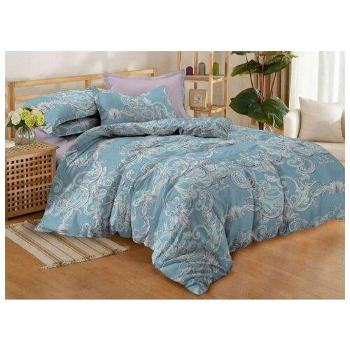 Постельное белье семейное Amore Mio Salsa, поплин, 70 х 70 см бирюзовый bedding set double euro amore mio fiona sky blue
