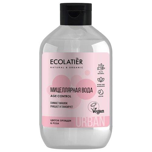 Фото - ECOLATIER Мицеллярная вода для снятия макияжа с цветком орхидеи и розы, 400 мл белита мицеллярная вода для снятия макияжа и тонизирования кожи belita young 200 мл