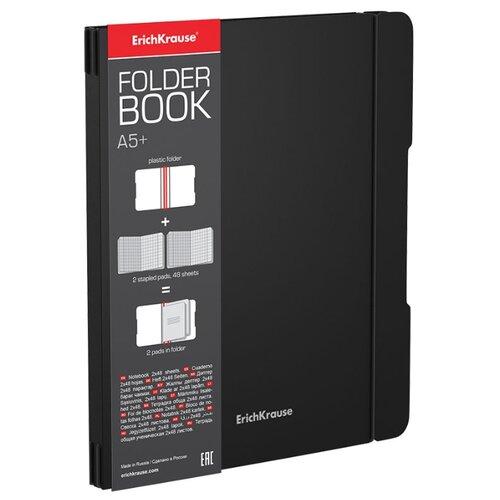 Купить ErichKrause Тетрадь FolderBook Classic в съемной пластиковой обложке, 2 сменных блока, A5+, клетка, 96 л., черный, Тетради