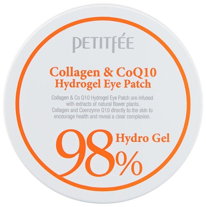 Гидрогелевые патчи для области вокруг глаз Petitfee 98% Collagen & CoQ10 Hydrogel Eye Patch, 60шт