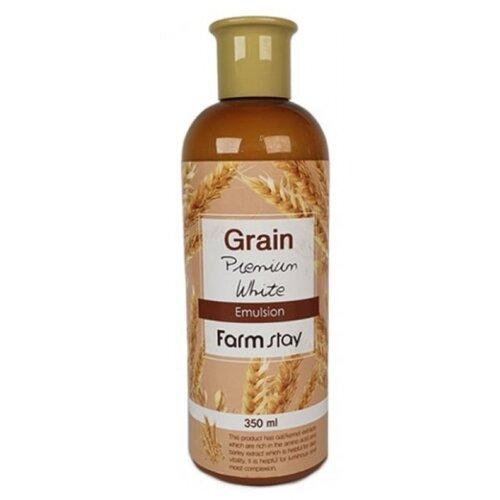 Фото - Farmstay Grain Premium White Emulsion Выравнивающая эмульсия для лица с экстрактом ростков пшеницы, 350 мл эмульсия для лица с экстрактом меда hydro energy emulsion 240мл