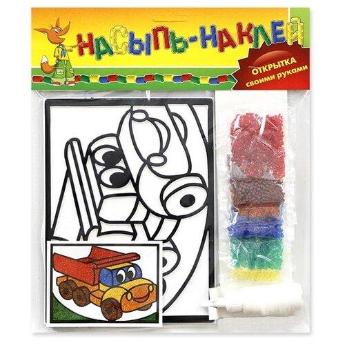 Купить Эра Набор для создания открытки Насыпь-наклей Машина (С-305- 57238307), Поделки и аппликации