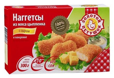 Золотой Петушок Наггетсы из мяса цыпленка с сыром 300 г