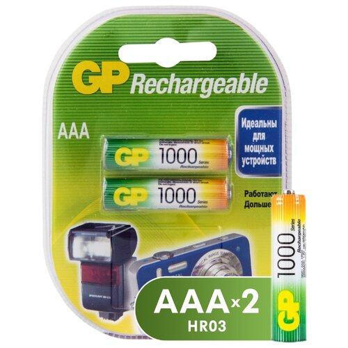 Фото - Аккумулятор Ni-Mh 950 мА·ч GP Rechargeable 1000 Series AAA 2 шт блистер аккумулятор ni mh 1000 ма·ч gp rechargeable 1000 series aaa usb светильник 4 шт блистер