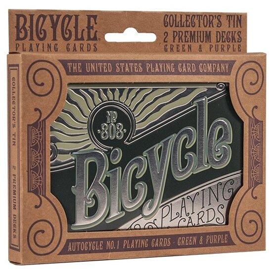 Карты для покера Bicycle Retro Tin