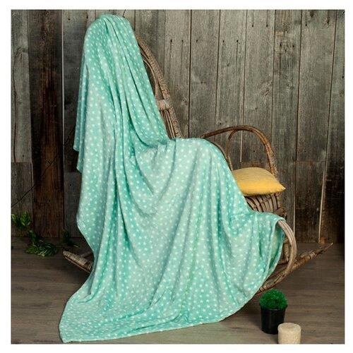 Плед Традиция Амели Звезды облегченный, 180 x 200 см, зеленый
