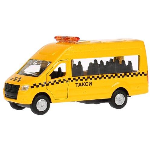 Купить Микроавтобус ТЕХНОПАРК ГАЗель NEXT Такси (SB-18-19-T-WB) 12 см желтый, Машинки и техника