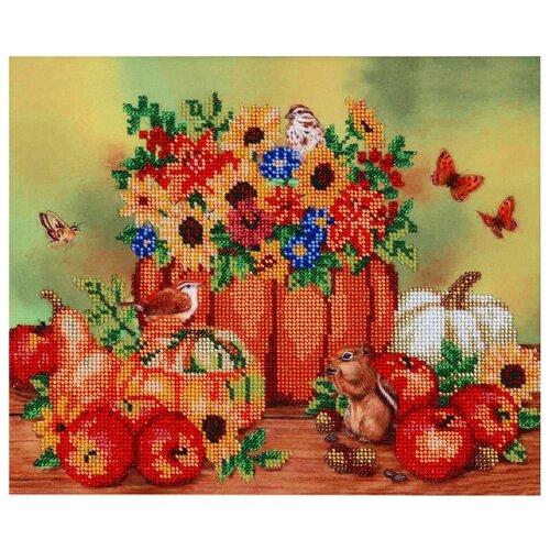 Купить Hobby & Pro Набор для вышивания бисером Осенние посиделки 30 х 25 см (БН-3057), Наборы для вышивания