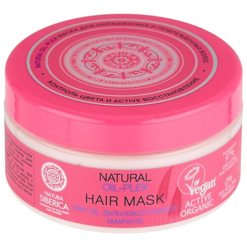Natura Siberica Oil-plex Маска для окрашенных и поврежденных волос, 300 мл маска для окрашенных и поврежденных волос natural oil plex hair mask 300мл