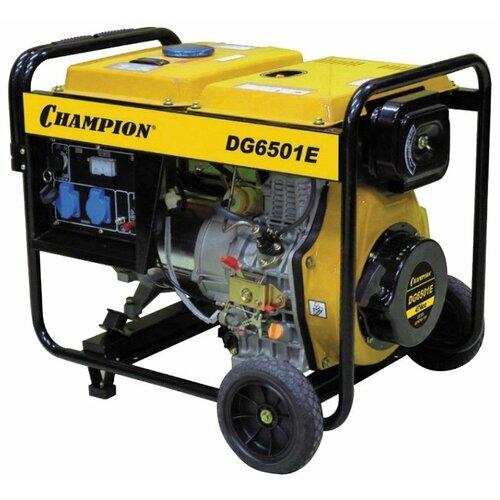 Дизельный генератор CHAMPION DG6501E (5000 Вт) дизельный генератор hyundai dhy 6000 se 3 5000 вт