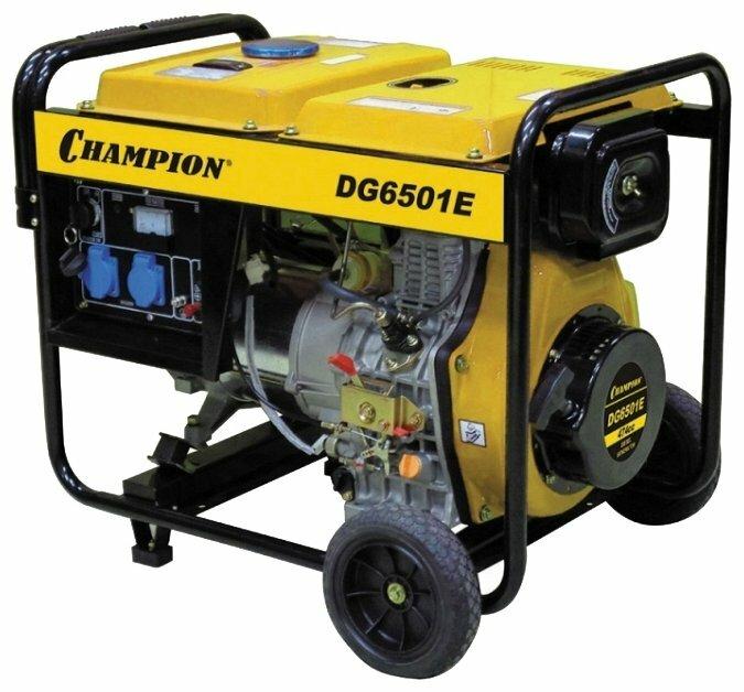 Дизельный генератор CHAMPION DG6501E (5000 Вт)