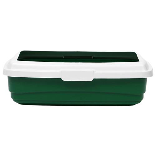 Туалет-лоток для кошек Атлантис Пласт Стандарт (без сетки) 43х33х12.5 см зеленый