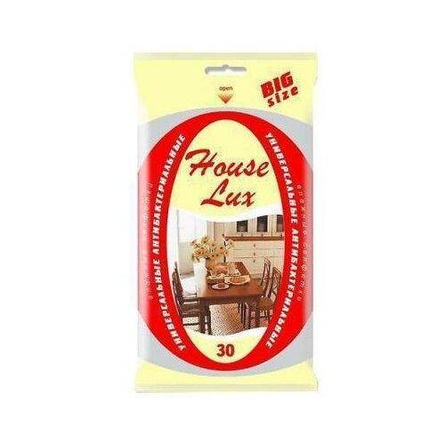 House Lux Влажные салфетки универсальные антибактериальные BigSize 30 шт.