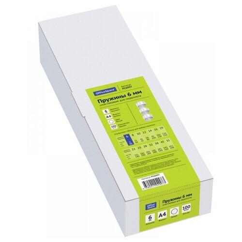 Фото - Пружина OfficeSpace пластиковые 6 мм прозрачный 100 шт. lightstar 006610 светильник proto cr mr16 hp16 хром прозрачный шт