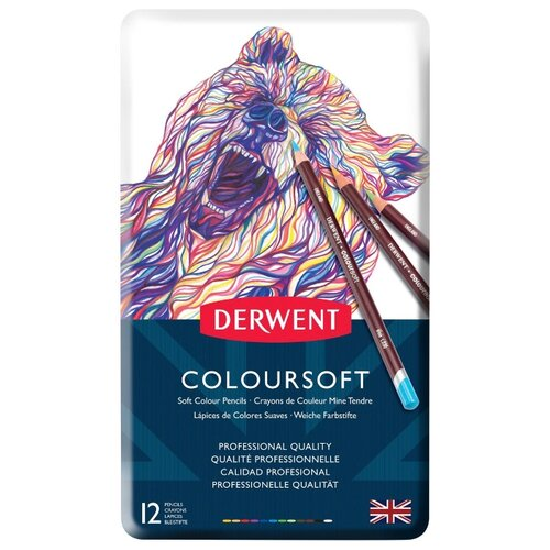 Derwent Цветные карандаши Coloursoft, 12 цветов (0701026) derwent цветные карандаши drawing 12 цветов 0700671