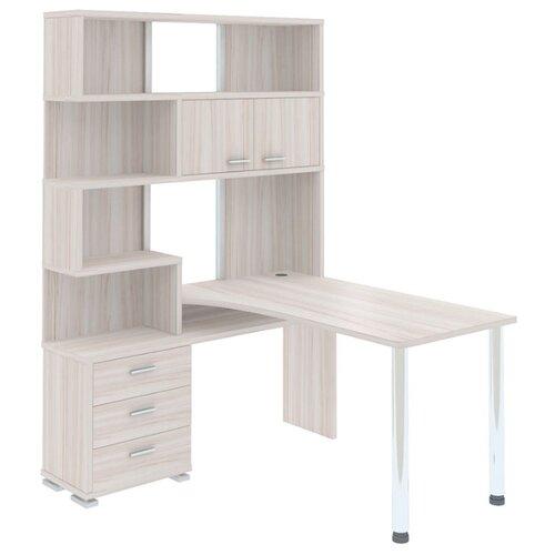 Компьютерный стол угловой Мэрдэс Домино СР-420, 130х150 см, тумба: слева, цвет: карамель террариум в угловой 60л 420 420 410
