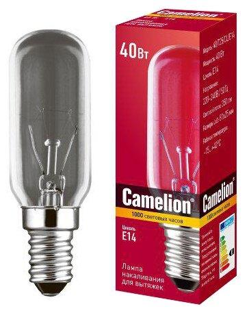 Лампа накаливания Camelion 40/Т25/CL/E14 для вытяжки 12984