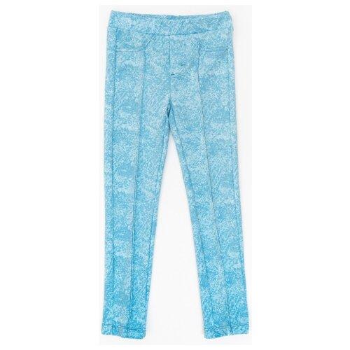 Купить Треггинсы Button Blue размер 158, голубой, Брюки