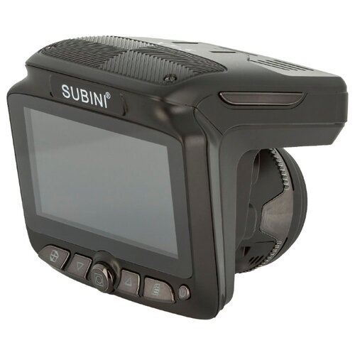 Видеорегистратор с радар-детектором Subini XT-5, 2 камеры, GPS черный
