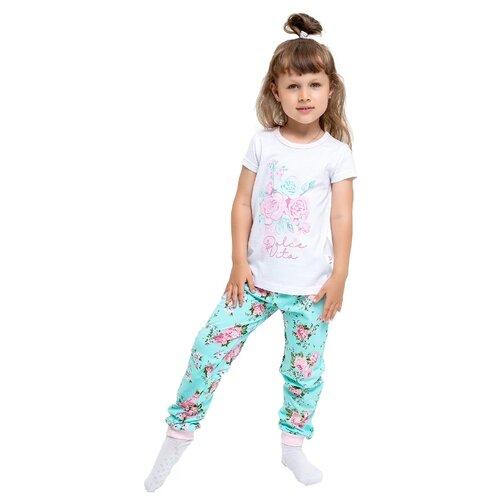 Купить Пижама Веселый Малыш размер 98, розовый/белый/мятный, Домашняя одежда
