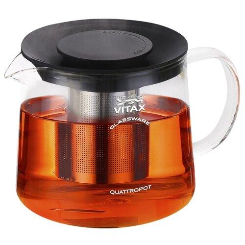 Фото - Vitax Заварочный чайник Bodiam VX-3308 1.5 л, прозрачный/черный заварочный чайник vitax belsay 1 л vx 3203