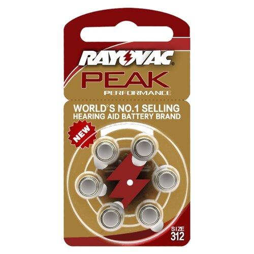 Фото - Батарейка RAYOVAC Peak ZA312, 6 шт. батарейка rayovac extra za312 6 шт