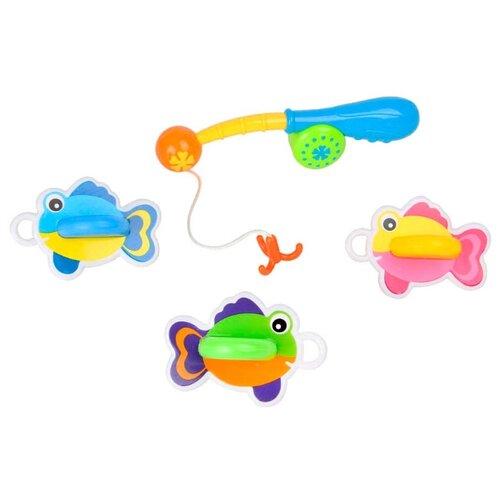 Купить Набор для ванной Ути-Пути Рыбалка (72445) голубой/желтый/розовый, Игрушки для ванной