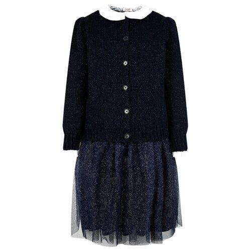 Купить Комплект одежды Il Gufo размер 128, белый/синий, Комплекты и форма