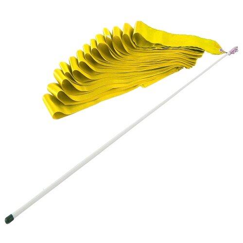 Фото - Палочка с лентой для художественной гимнастики Larsen AB220 желтый палочка с лентой для художественной гимнастики larsen ab220 синий